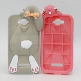 Alcatel POP C5 C7 C9 Silicone Case 3D Cartoon Bunny Rabbit Soft Rubber Case Cover For Alcatel One Touch Pop C5 C7 C9