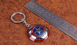 Wholesale The Avengers New Marvel Super Hero Captain America Shield Action Figure Keychain Keyring Doll