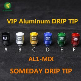 2016 VIP drip tips aluminum e-cigarette drip tip wholesale, flat or round test drip tip for ego 510 vivi nova atomizer