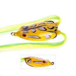 Wholesale cm15g FISHING tackle VMC hooks soft bait soft bass frog lure soft bass pro frog fishing frog