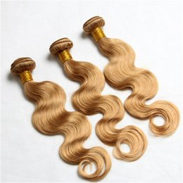 27 Honey Blonde Body Wave Hair Weaves 300G Lot 27 Blonde Brazilian Hair Bundles Human Hair Extensions In Stocks