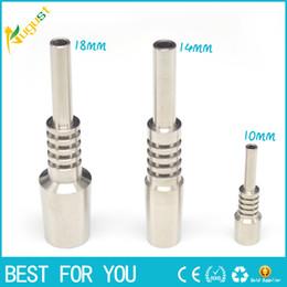 Ongles en verre pour l'huile à vendre-Nectar Collector Titane Joints Ongles 10mm 14mm 18mm GR2 Titanium Nails pour le miel Dab Paille Concentré Pipe en verre d'eau Bong Oil Rigs