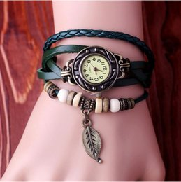 Wholesale 2016 A Variety Of Styles Of Cash Supply Hot Fashion Hand Woven Retro Leaf Bracelet Watch For Sale