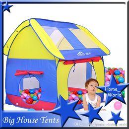 Wholesale Tunnel Big House Tent Kids Folding Tent Kids Play Hut Outdoor Indoor Fun Play Big Tent Playhouse Pop Hut Play Pit Balls Pool