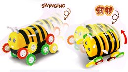 Wholesale 2016 Robot Dog Electric Cartoon Bee Bucket Stunt Car Automatic Flip Children Novelty Toys Boy Interactive Gift Toy Babyshining