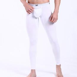 Wholesale Wangjiang Men s Warm Long Johns Elastic Line Sleep Pants Fashion Modal Underpants Warm Legging Tight Men Sexy Smooth Thermal Underwear