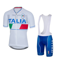 Wholesale Italia Short Sleeves Cycling Jerseys With Pad Gel Bib None Bib Pants Bike Wear Size XS XL For Men Women Bicycle Clothing