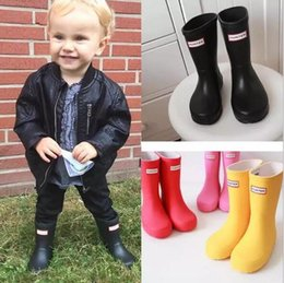 Wholesale 1 Matte Rain Boots Waterproof Baby Kids Wellies Boots children s Rain Boots High cm Boot Rainboots Hot Sale