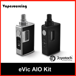 Wholesale Authentic Joyetech Evic Aio Kit e cigarette Starter Kit TC Box Mod with ml ECIG vaporizer BF SS316 ohm DL coils First Batch stock