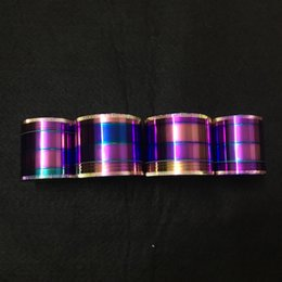 Wholesale 1pc Rainbow Grinders Zinc Alloy Grinder mm Diameter Piece Grinders Herb Crushers grinder in stock