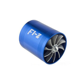 TURBO F1-Z Air Intake Gas Fuel Saver SINGLE Propeller Fan Universal Fit Turbine Turbocharger (Color: Blue) CWF