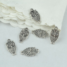 wholesale 135pcs vintage silver plated owl charms metal pendants diy for necklace & bracelets jewelry making 18*9mm 2151