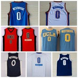 Wholesale Plus récent Russell Westbrook Jersey Chemise UCLA Bruins Russell Westbrook Collège Uniformes Retombée Noël Accueil Route Bleu Blanc Orange