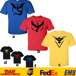 Wholesale 3XL Unisex Women Men Poke Go Top T shirts Fashion Summer Cartoon Acticon Short Sleeve Plain Copy Cotton O Neck T shirt Style GD T05
