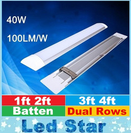 Wholesale LED tri proof Light Batten T8 Tube FT FT FT FT Explosion Proof Two LED Tube Lights Replace Fluorescent Light Fixture Ceiling Grille Lamp