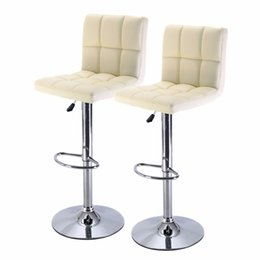 Wholesale Set of Bar Stool PU Leather Barstools Chair Adjustable Counter Swivel Pub New