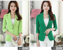 Spring New Leisure Seven Sleeves Small suit coat Joker temperament Candy colors SuitWomen's Small Suit Size S-4XL