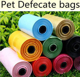 Wholesale Candy colored pet trash bag pet Stool bag Can be used with the dog toilets Pet cleaning supplies