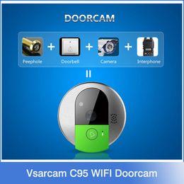 Wholesale Vsarcam C95 WIFI Doorcam HD P CMOS Sensor Wireless Doorbell Two Way Audio Video Mobile View IP Indoor Camera