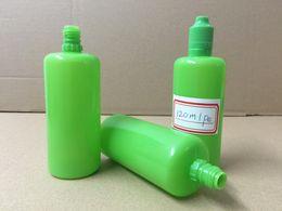 Hot 120ml Pure Green PE Soft Bottle 4OZ E-Cig Plastic Dropper Bottle With Green Tamper Evident Childproof Cap For E Liquid E Juice