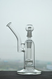 Wholesale Heady Glass bongs Bird Cage Perc with mm Jiont Recycler Glass Water pipe with dome and nail