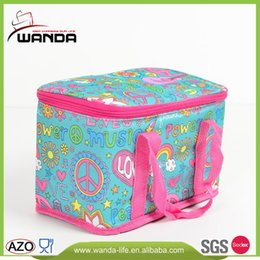 Wholesale 2016 New Style Large Thicken Folding Fresh Keeping cooler Lunch Cooler Bag for School Work Short Trip Food Delivery Cans Beer Beverage Fruit