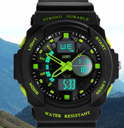 2016 New SKMEI F 0955 4 colors shock Waterproof and shockproof watches chronograph sport utility Running watch Light function Watch