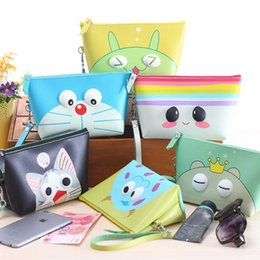 Wholesale advanced pu material made waterproof lovely storage cosmetic clutch bag hight capacity coin purse