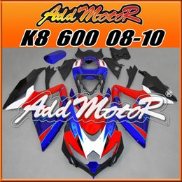 Wholesale Addmotor Bestselling Injection Mold Fairings Fit Suzuki GSX R600 GSX R750 GSXR600 K8 BodyKit Red Blue S6861 Five Gifts