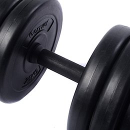 New Weight Dumbbell Set 66 LB Adjustable Cap Gym Barbell Plates Hollow Rod