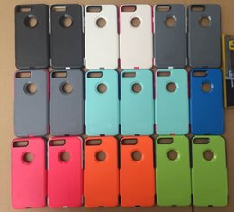 Wholesale Hot Cell Phone Case in1 Combined SiliCone Box Commuter inch Case Cover for iPhone plus s Plus with Retail package