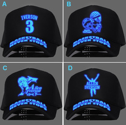 Wholesale Christmas gift Basketball all stars Allen Ezail Iverson snapbacks kids fashion baseball caps winter summer hats for men