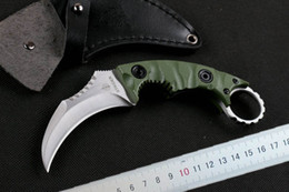 New Strider Claw Karambit knife G10 Handle Fixed blade Outdoor gear EDC Pocket Knife hunting knife camping knives