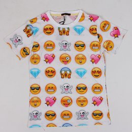 2018 Hot fashion emoji t shirt hot style emoticons tshirt summer funny clothes unisex women men top tees t-shirt clothing wholesales