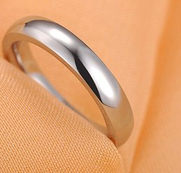 Wholesale 4MM Men s Pure Titanium Ring Brushed Polished Finish Classic Wedding Engagement Band Ring New All Size gde8