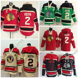 Cheap Men's Chicago Blackhawks Cheap Ice Hockey Jersey Hoodie #2 Duncan Keith Ice Hockey Hoodies  Hooded Sweatshirt