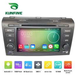 2017 consola gris Estereofonia del coche del jugador de la navegación del GPS del coche del androide 5.1.1 del cuadrángulo 1024 * 600 de la base 1024 * 600 para Mazda 3 2007-2009 Radio 3G Wifi Bluetooth KF-V2268Q consola gris en venta