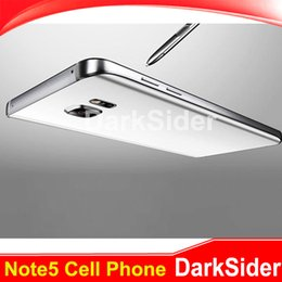 Wholesale Note5 CelPhones Clone G network MTK6572 Dual core inch M G show GB Android MP Note5 Goophone S6 S7 Instock