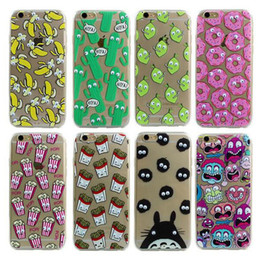 Wholesale Luxury Soft TPU D Cute Cartoon Eyes Move Mouse Cat French Fries Banana Popcorn Phone Case Cover For iPhone S Plus S SE MOQ