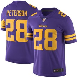 Wholesale 2016 New arrival Cheap Mens Minnesota Football Jerseys Vikings Stefon Diggs Adrian Peterson Stitched Purple Color Rush Limited Jersey
