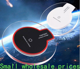 Wholesale Crystal wireless charger Quick wireless chargers charging Pad Portable induction unwarming recharger for Iphone C S Plus Chip receive