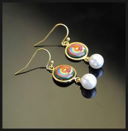 Femmes top perle à vendre-Boucles d'oreilles boucles d'oreille boucles d'oreille en or 18 carats Boucles d'oreilles boucles d'oreilles boucles d'oreille en boules