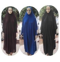 Wholesale Maxi Muslim Dress Ladies Hijab Abaya Prayer Dresses Islamic Clothes Clothing Khimar Jilbab Free Fast Shipping QK017