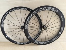 Wholesale Carbon Bikes Rims - 38 50 60 88mm Carbon Wheelset Clincher tubular Basalt brake surface road wheels road wheel 23mm width rims