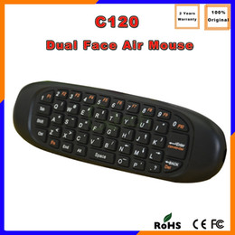 Wholesale Canada DHL Free Ship C120 Ghz Wireless Keyboard Remote Control MINI Fly Air Mouse QWERTY keyboard mouse For Android TV BOX