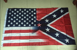 Wholesale 90x150cm American Flag with Confederate Rebel Civil War Flag new style hot sell x5 ft