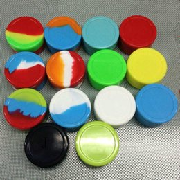 Colorful 3mL 5mL Non-stick Silicone Jar Dab Wax Containers For Wax Silicone Jars Concentrate Case for vaporizer vape (09h097)