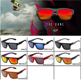 Wholesale 2016 New Sports Sunglasses Fox The Danx Hot Sale Driving Goggles Reflective Lenses Inside Temples Printing Factory Price
