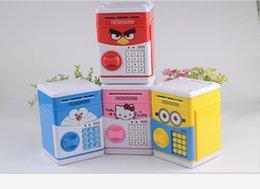 Wholesale Hot style creative children piggy bank ATM piggy bank insurance volume money machine for the password