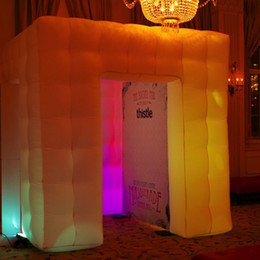 Wholesale free standing top quality custom made led lighting fun inflatable square tent with free air blower